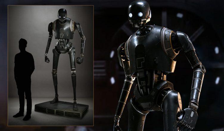 Confira o projeto em escala real do robô K-2SO de Star Wars para colecionador