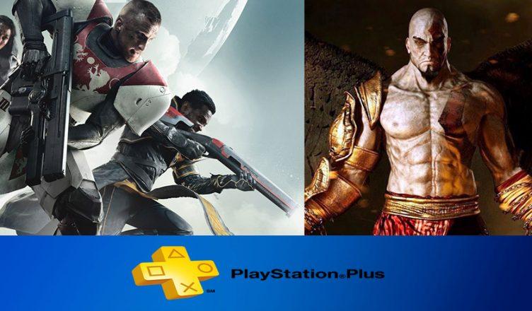 Playstation Plus Setembro 2018, destaque para Destiny 2 e God of War