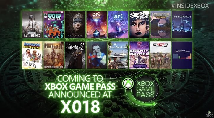 Lista Xbox Game Pass : Inside Xbox 2018