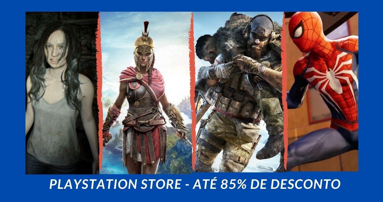 Promoção Playstation Store: confira a lista de jogos com até 85% de desconto!