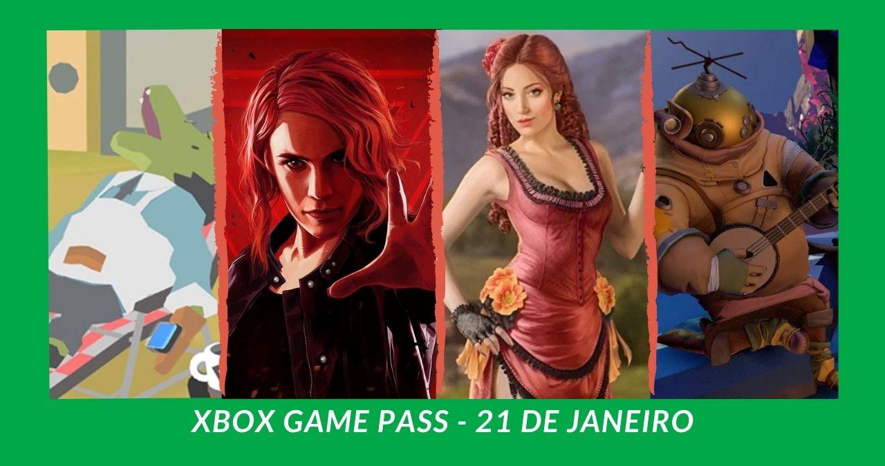 Catálogo de jogos Xbox Game Pass